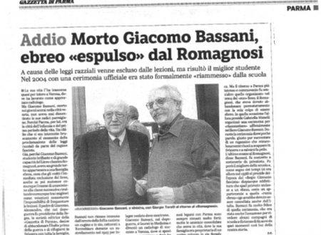 In ricordo dell'allievo Giacomo Bassani