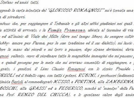 da una lettera di Davide Fratta IIIA 1954